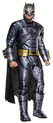 [UHC Men's Armored Batman Vs Superman Superhero Dawn Of Justice Halloween Costume, STD (42-44)] (Adult Black Suit Superman Costumes)