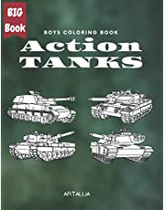 Action Tanks: Big Collection of Army Combat Tanks (Boys Coloring Books (ARTALLIA))