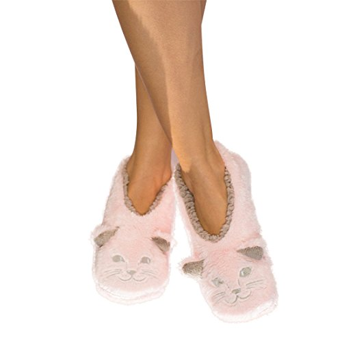 Slippers Dreams (Faceplant Catnap Footsie Slippers, Medium (7-8))