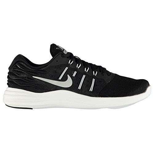 Nike Lunarstelos Running Shoes Mens Black/Silver Fitness Trainers Sneakers X3VDUc