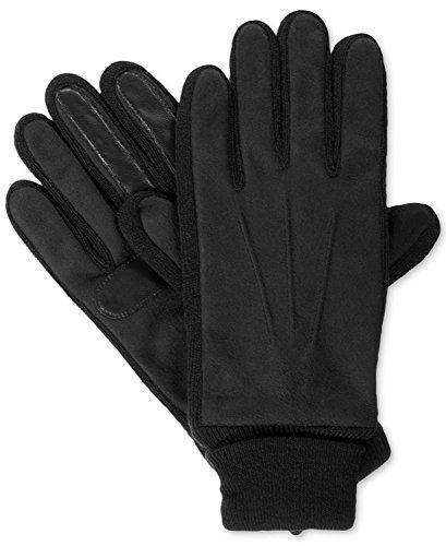 - Isotoner Signature Mens Medium Knit-Cuff Winter Gloves Black M