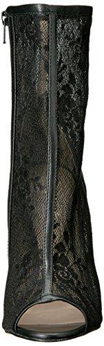 Pleaser SEXY-1008 Stiletto Heel, Open-Toe Stiefelette, Lack-Schwarz, 35-44 Blk Pu-Lace