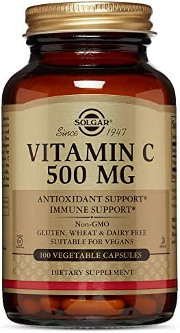 Solgar - Vitamin C, 500 Mg, 100 Vegetable Capsules
