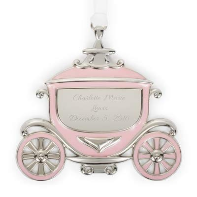 Things Remembered Personalized Princess Carriage Enamel Ornament with Engraving Included