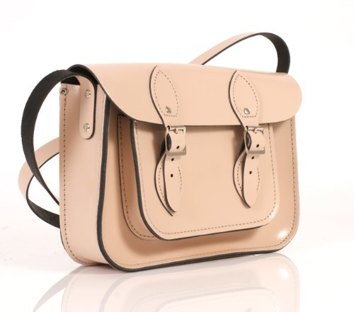 Leather Satchel's, Borsa a secchiello donna Patent Fuchsia