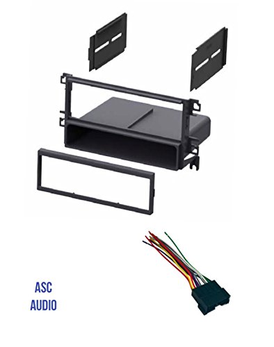 ASC Car Stereo Radio Dash Kit and Wire Harness for installing a Single Din Radio for some 2001 - 2006 Hyundai Elantra, 2001 - 2006 Hyundai Santa Fe, 2002 - 2005 Hyundai Sonata, 2003-2008 Tiburon (Sonata Santa)