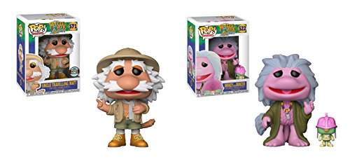 Fraggle Rock Puppets (Funko POP! Television Jim Henson's Fraggle Rock 35 Year Anniversary: Uncle Travelling Matt LIMITED EDITION SPECIALTY SERIES EXCLUSIVE and Mokey with Doozer Toy Action Figures - 2 POP BUNDLE)