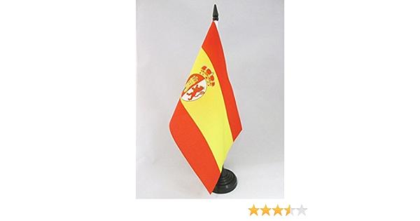 AZ FLAG Bandera de Mesa de la RESTAURACIÓN BORBÓNICA EN ESPAÑA 1785-1931 21x14cm - BANDERINA de DESPACHO ESPAÑOLA Antigua 14 x 21 cm: Amazon.es: Hogar