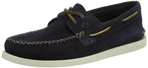 Sperry a/O 2-Eye Wedge Suede, Náuticos para Hombre Azul (Navy)