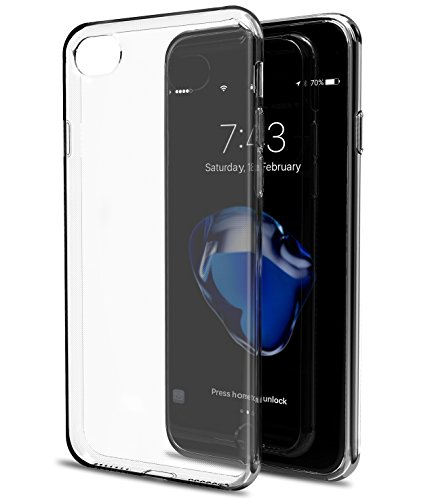 TOZO for iPhone 7 Case iPhone 8 Case, Clear Soft TPU Gel Skin [1.0mm Ultra Thin] Slim Soft Protective Cover for iPhone 7 (2016) iPhone 8 (2017) 4.7inch. [Clear]