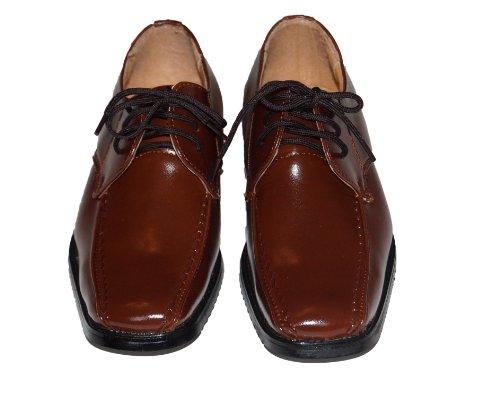Kinderschuhe festliche Schuhe Kommunionsschuhe Komfirmationsschuhe Fero braun Größe 19