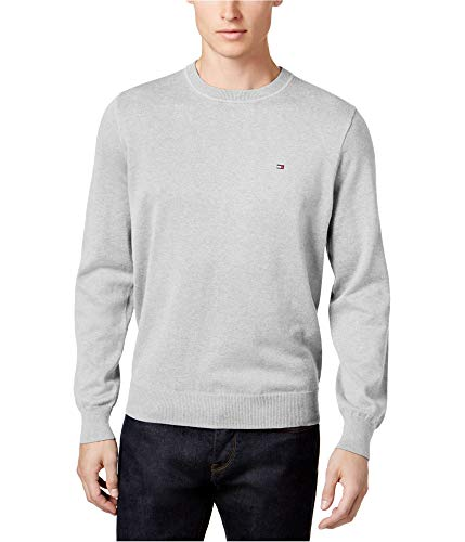 Tommy Hilfiger Signature Solid Crew-Neck Sweater (Griffin Heather, XXL)