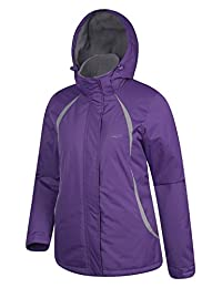Mountain Warehouse Moon Women's Ski Jacket - Water Resistant, Windproof, Adjustable Cuffs & Drawcord Waist with Snow-Skirt, Pockets - Ideal for First Time Skiers