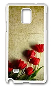 Adorable grunge red tulips Hard Case Protective Shell Cell Phone For Case Iphone 6Plus 5.5inch Cover - PC White by icecream design