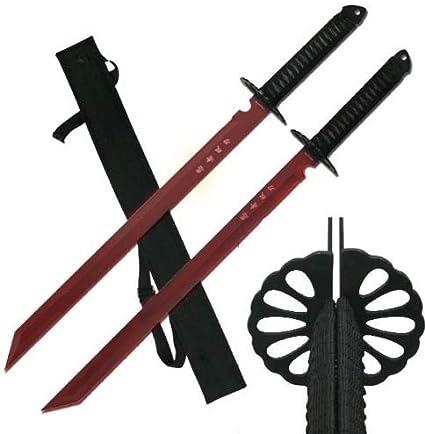 Amazon.com: GG - Juego de 2 espadas de katana de 10.2 in ...