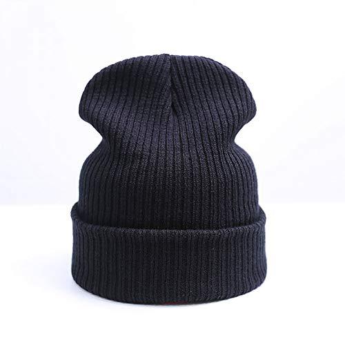 Invierno Sombrero Punto De Unisex A Punto Sombrero OUOCMZ Sombrero Hombres Black Gorro De De Moda Caliente para Mujeres Gorros De gtwYgq1vd4