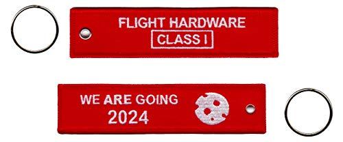 NASA Space Flight Hardware Class One Lanyard Keychain Tag Moon We Are Going Remove Before Flight (Remove Before Flight Clothes)