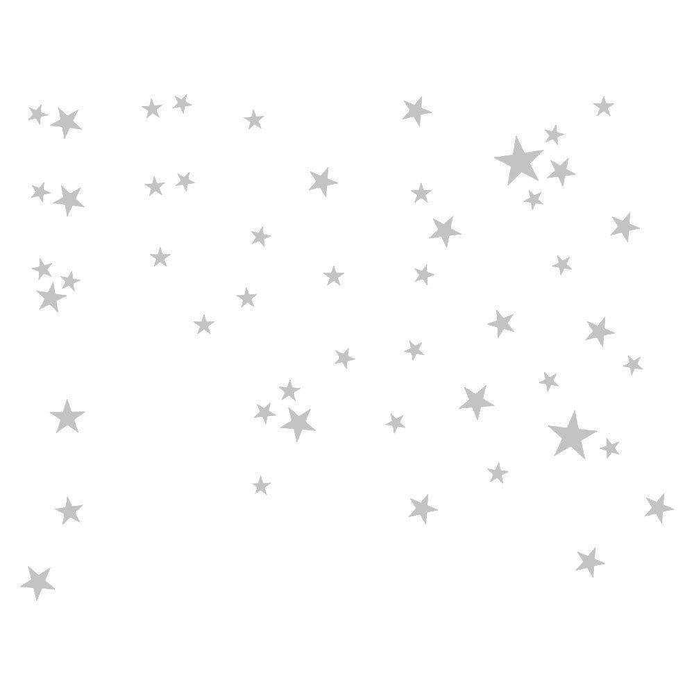 grigio TianranRT Stella Della Parete Autoadesivo Grigio 51pcs Stella Rimovibile Arte Vinyl Murale Casa Camera Arredamento Bambini Camere Muro Stickers