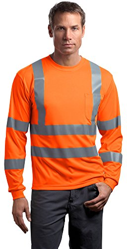 Cornerstone Mens ANSI 107 Class 3 Long Sleeve Snag-Resistant Reflective T-Shirt
