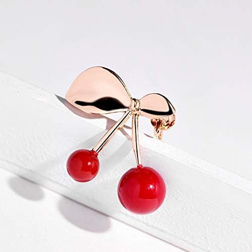 YYOGG Brooch Suddenly Heartbreaking Girl Red Heart Playful Cute Jewelry Cherry Brooch