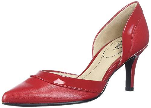 Red Heel Shoes - LifeStride Women's Saldana Pump, fire red,