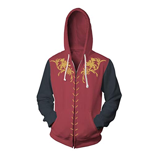HPY Cosplay Hoodie Costume Sweatshirt GOT Coat Tyrion Jacket Eddard Christmas Halloween,Red XL]()
