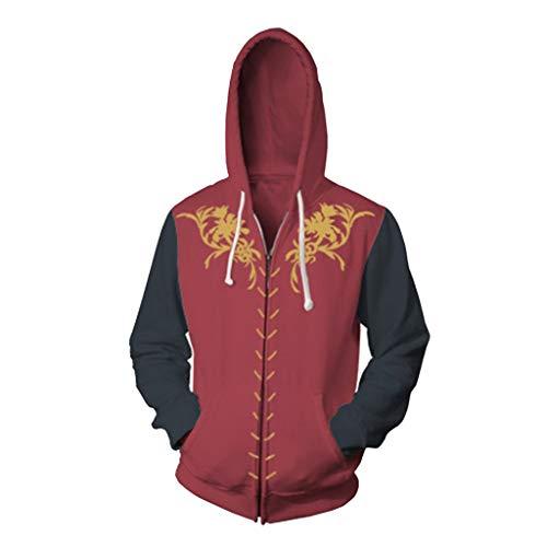 HPY Cosplay Hoodie Costume Sweatshirt GOT Coat Tyrion Jacket Eddard Christmas Halloween,Red XL]()