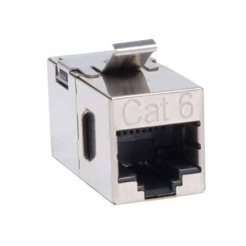 [TRIPP LITE N235-001-SH Cat6 Straight Modular In-Line Snap-In Coupler RJ45 F/F TAA GSA] (Tripp Lite Cat5e Feed)