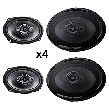 Image of 4 New Kenwood KFC-D691 6x9 1300 Watt 4-Way Car Audio Coaxial Speakers Stereo Coaxial Speakers