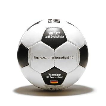 Balón mundial de fútbol 1974, de piel, diseño retro, con texto ...