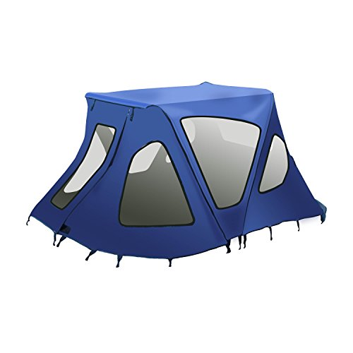 ALEKO BWTENT250B Winter Canopy Boat Tent Sun Shelter Sunshade for Inflatable Boats 4.5 x 4 Feet Blue