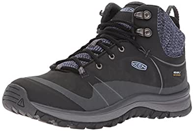 KEEN Women's Terradora Pulse Mid WP-W Hiking Boot, Black/Magnet, 10 M US