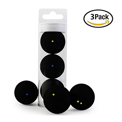 3 Barrels of Mixed Squash Ball Single Blue Dot Single Yellow Dot Double Yellow Point Professional Training Competition
