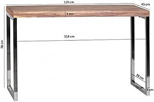 FineBuy Mesa Consola de Madera Maciza 120 x 45 x 76 cm Mesa Maciza ...