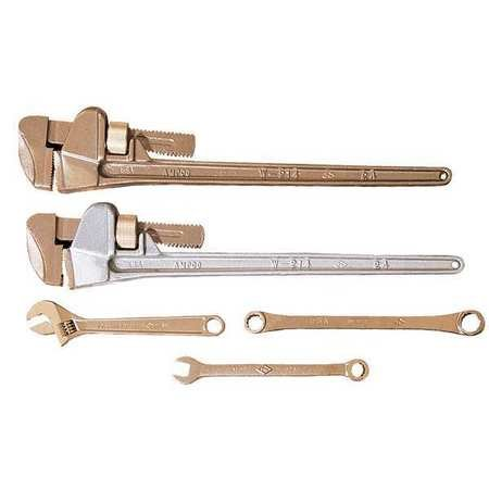 """8"""" Nonspark Straight Pipe Wrench, Aluminum, 1-15/16"""" Jaw -  AMPCO"""