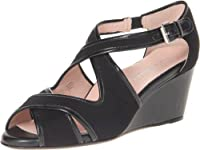Taryn Rose Women's Kinza Wedge Sandal,Black,9 M US