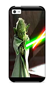 DanRobertse Case Cover Protector Specially Made For Iphone 5c Star Wars Attack Clones Yoda Lightsaber Sword