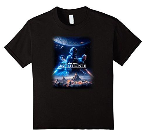 Price comparison product image Kids Star Wars Battlefront II Rey Darth Maul Poster T-Shirt 10 Black