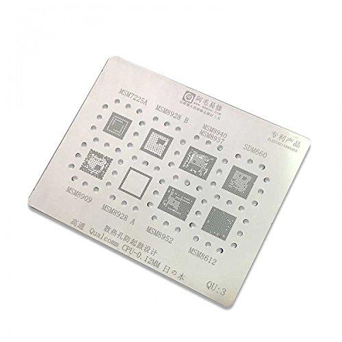 phonefix PCB placa base 0.12 mm BGA Reballing plantilla para IC chipset msm8909/MSM8928/msm8952/msm8612 para Universal Soldadura Rework Station, ...