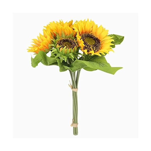 Mynse Artificial Sunflower Bouquet Wedding Handheld Silk Flower Home Decoration