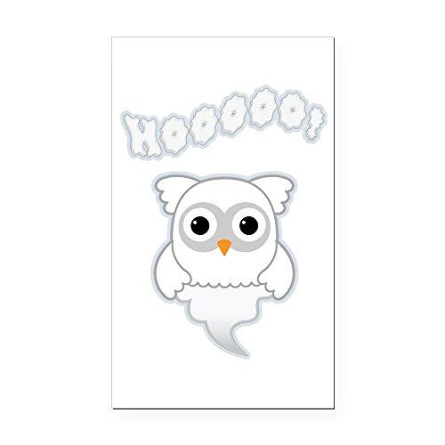 (Rectangle Car Magnet Spooky Little Ghost Owl)