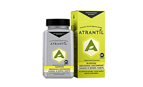Atrantil (90 Clear Caps): Bloating, Abdominal Discomfort, Change in Bowel Habits, and Everyday Digestive Health (Best Treatment For Gas Pain)