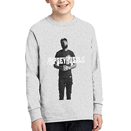 Play & Games Teen Boys Girls Nipsey Hussle 16 Junior Long Sleeve T-Shirt Gray L (Best Shaver For Teenager)