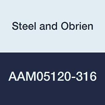 5 x 1-1//2 OAL 5 x 1-1//2 OAL Steel and Obrien AAM05120-316 Stainless Steel L14AM7 Butt Welding Ferrule