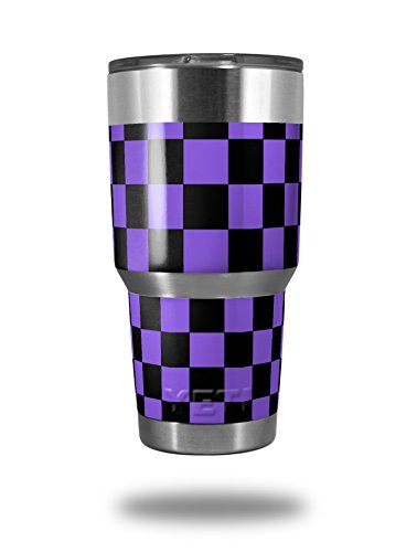 Skin Decal Wrap for Yeti Tumbler Rambler 30 oz Checkers Purple (TUMBLER NOT INCLUDED) by WraptorSkinz