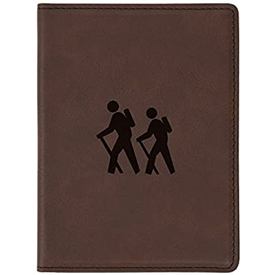 Neon Night Silhouette Leather Passport Holder Cover Case Travel One Pocket