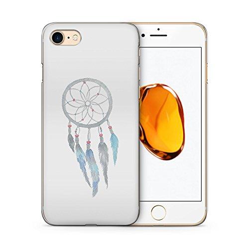 Hülle für iPhone 7 SLIM -Dreamcatcher Traumfänger Weiß - Hardcase Cover Case Handyhülle Schutz Schutzhülle Tribal Aztek Aztec Indian Dream Catcher