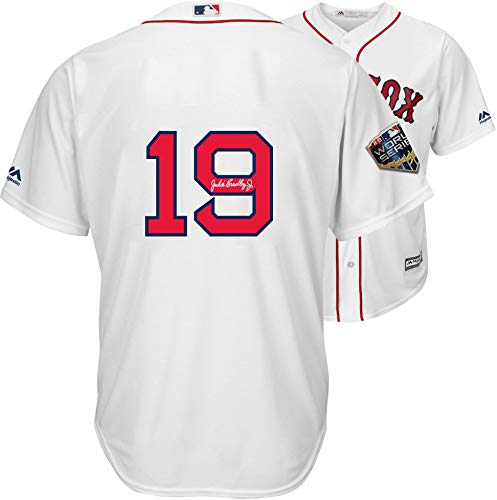Jackie Bradley Jr. Boston Red Sox 2018 MLB World Series Champions Autographed Majestic White Replica World Series Jersey - Fanatics Authentic ()