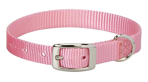 """Weaver Leather Prism Single-Ply Collar, Pink, 5/8"""" x 13"""""""