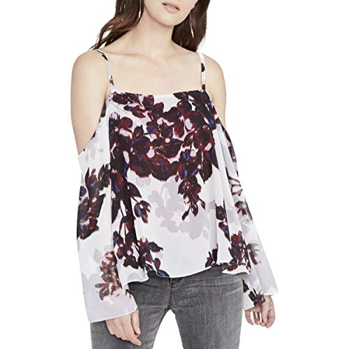 Rachel Roy Womens Off-The-Shoulder Floral Print Blouse, used for sale  Delivered anywhere in USA
